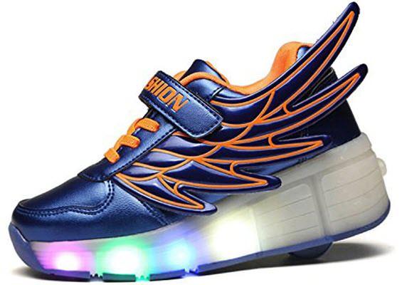 mejores zapatillas con ruedas led para niños ecotish azul